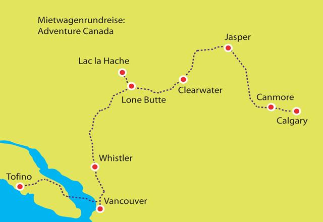 Mietwagenrundreise Adventure Kanada