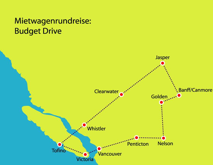 Höhepunkte in Westkanada