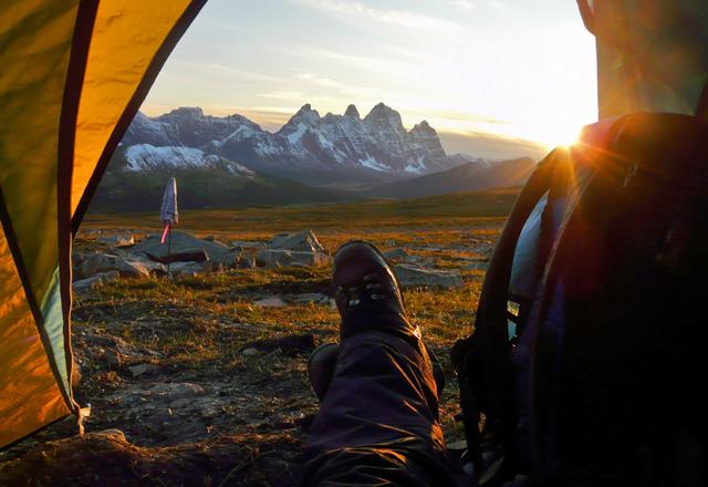 Campen in Westkanada nachdem wandern
