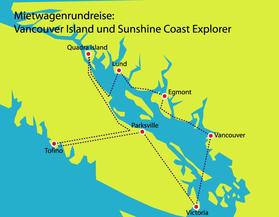 Vancouver Island und Coast entdecken