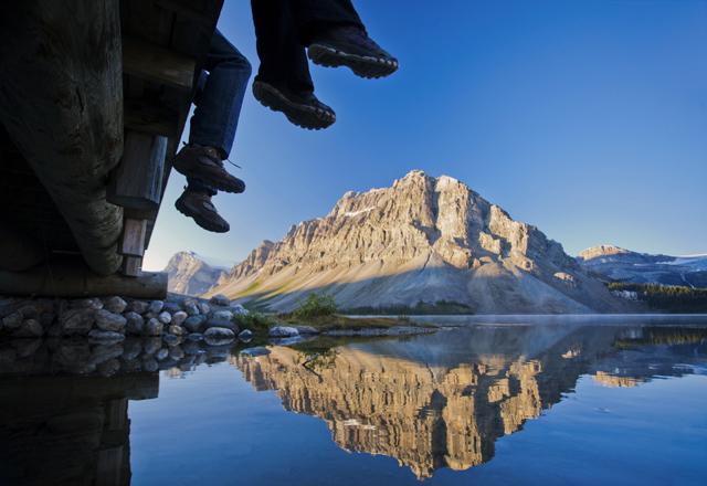 Wandern Banff mit Freunden in kanada