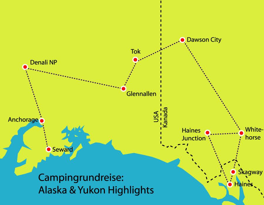 Campingreise Yukon Alaska