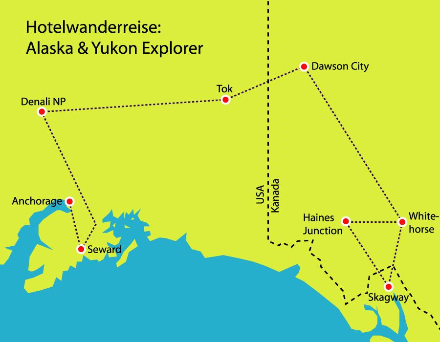 Entdeckerreise in Alaska und Yukon mit einer tollen Gruppe