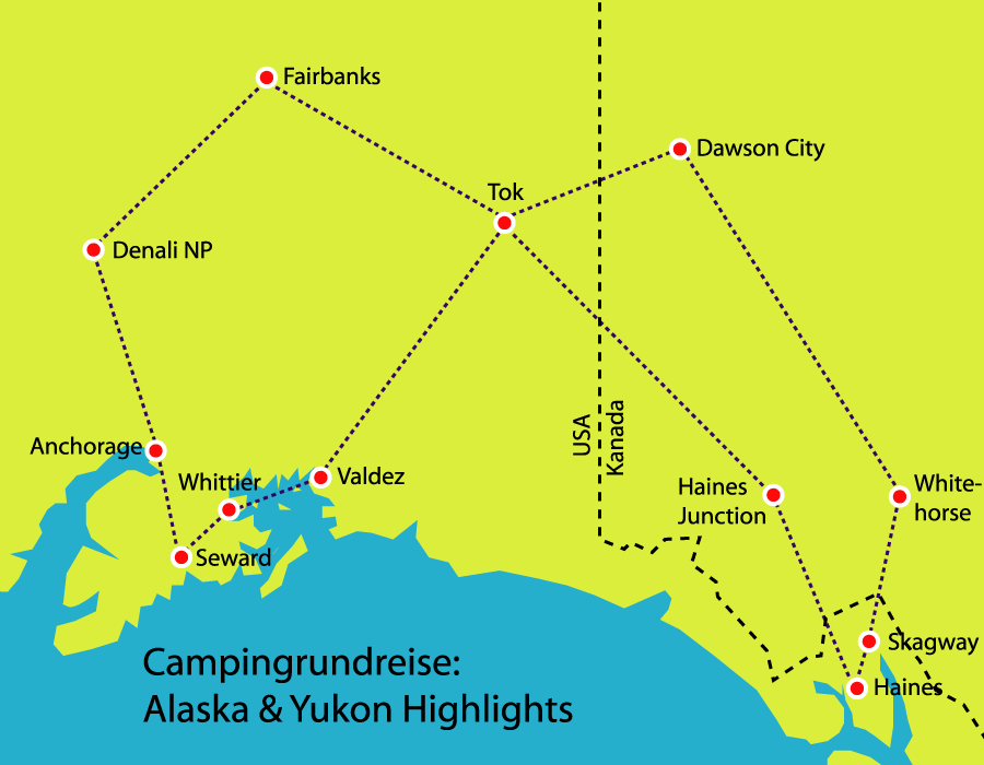 Alaska und Yukon Highlights