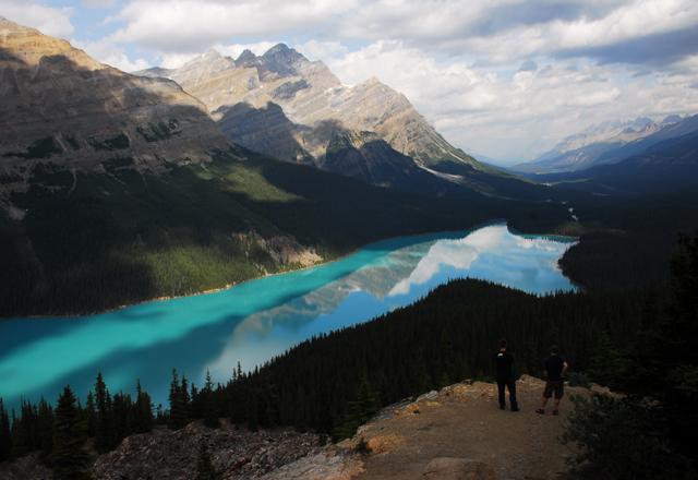 Peyto Lake beim wandern im Banff Nationalpark