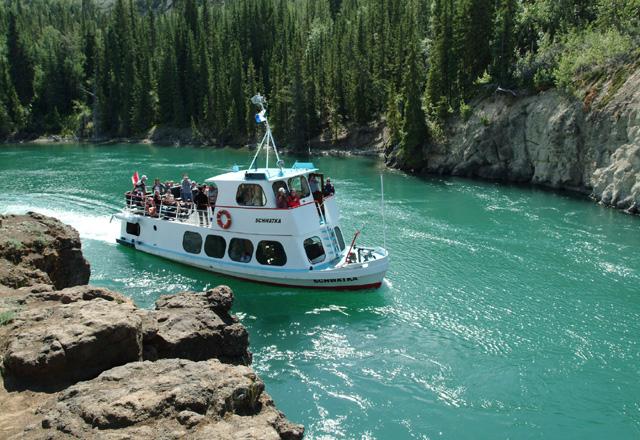 Yukon Bootsfahrt durch den Canyon