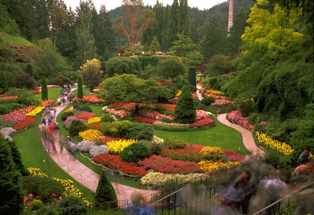 Besuch der Butchart Gardens in Victoria