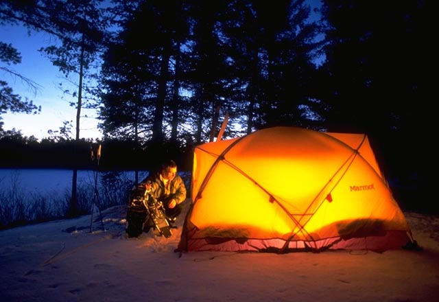 Camping in der Wildnis Kanadas