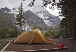 Bergseezelten in Westkanada