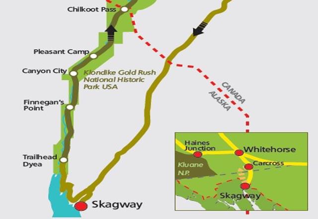 Chilkoot Trail im Yukon