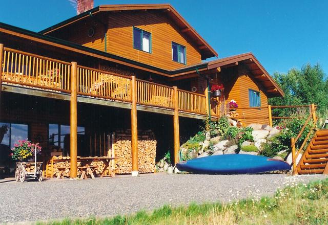 Blockhütte in British Columbia