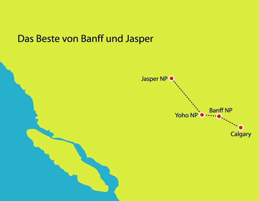 Wanderreise in Banff und Jasper