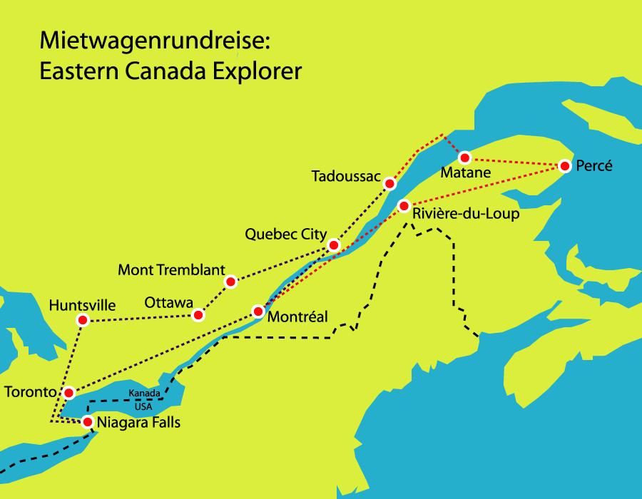 Ostkanada entdecken mit dem Mietwagen