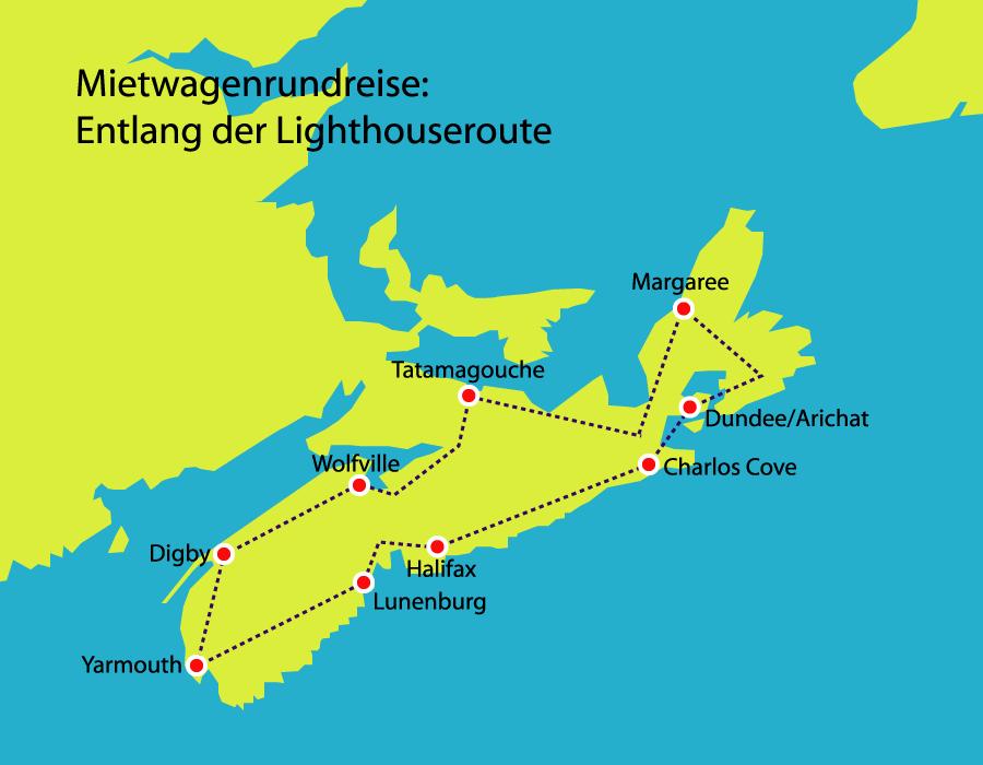 Mietwagenrundreise Entlang der Lighthouseroute