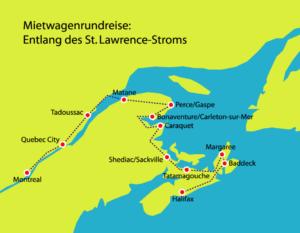 Entlang des St. Lawrence-Strom