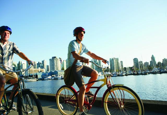 Fahrradtour in der Metropole Vancover am Pazifik