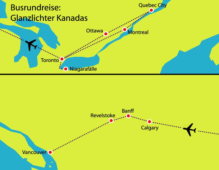 Gruppenreise durch Ost- und Westkanada