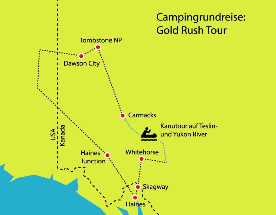 Campingrundreise Gold Rush Tour - Im Land der Mitternachtssonne