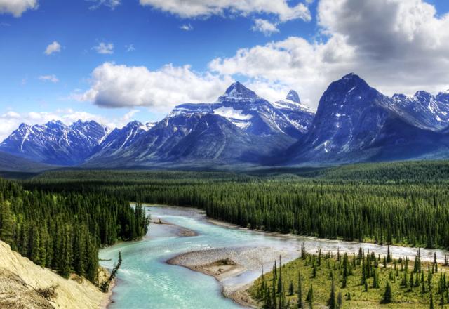 Bergsee Jasper Rocky Mountains Kanada Zeltreise