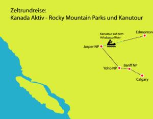 Zeltrundreise Kanada Aktiv - Parks und Kanutouren
