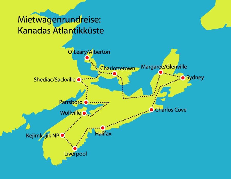 Kanadas Atlantikk U00fcste  U2013 Autoreise  U2013 Kanadareisen De
