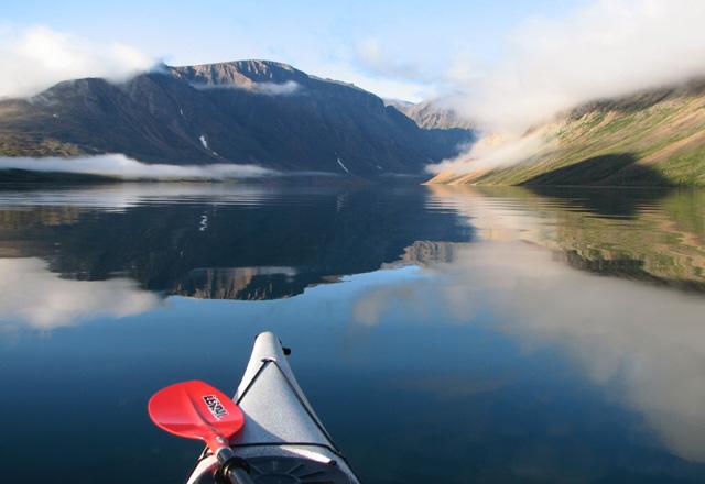 Kanu in Neufundland in Kanada