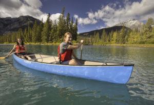 Kanu fahren in Alberta in Kanada