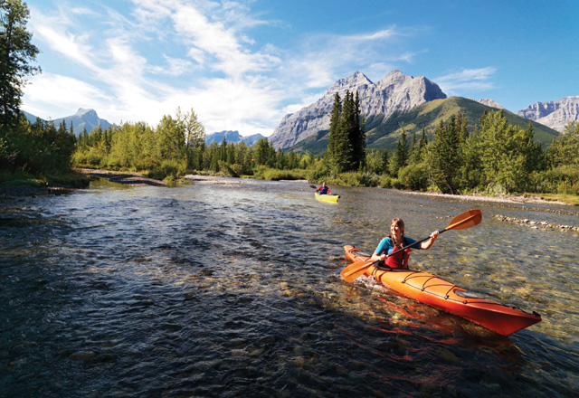 Rocky Mountains Kanu Westkanada Zelt