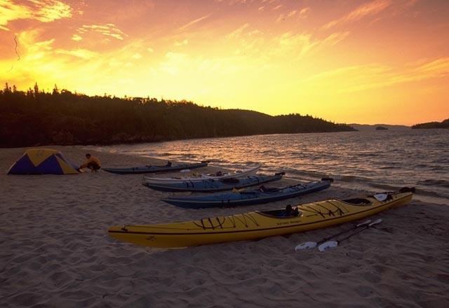 Kayak in Ontario in Ostkanada