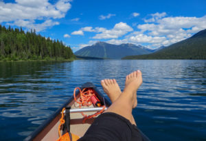 Mit dem Kanu durch die Rocky Mountains