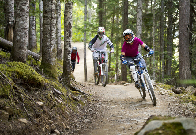 Mountainbike in den Nationalparks in Westkanada