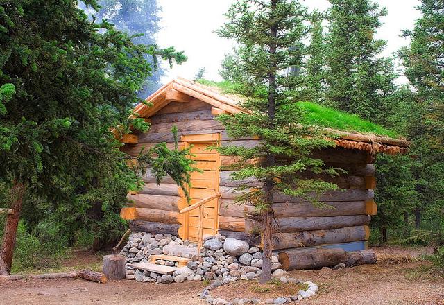 Sauna auf der Sky High Wilderness Ranch