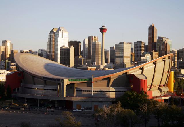 Skyline in Calgary in Kanada