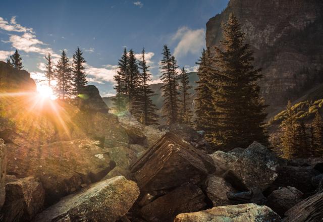 Rocky Mountains bei einer Mietwagenreise durch Westkanada