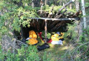 Übernachten in der Wildnis Kanadas