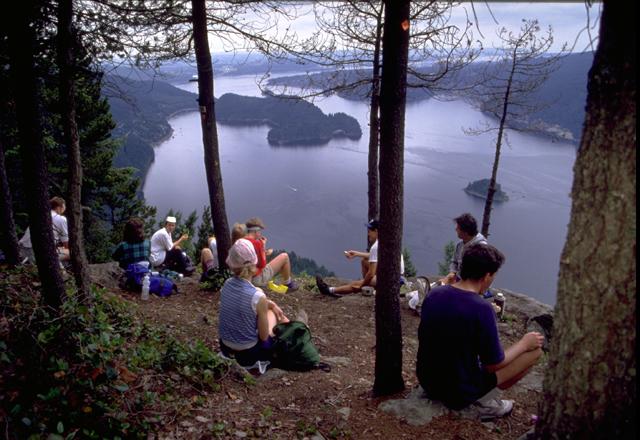 Wandergruppe in British Columbia