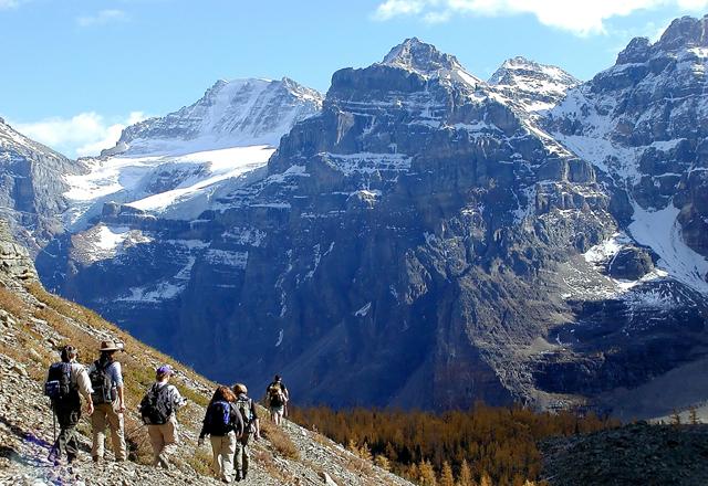Wandern in den Bergen in Westkanada