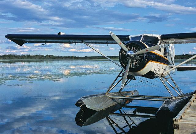 Wasserflugzeug in Yukon