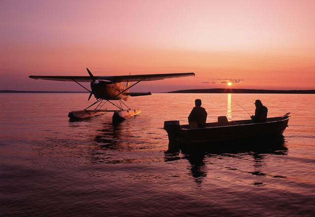 Wasserflugzeug im Westen Kanadas