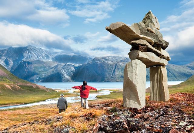 Wegweiser der Indianer in Westkanada