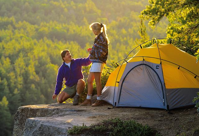 Zelten während einer Aktiv Wanderreise in Kanada