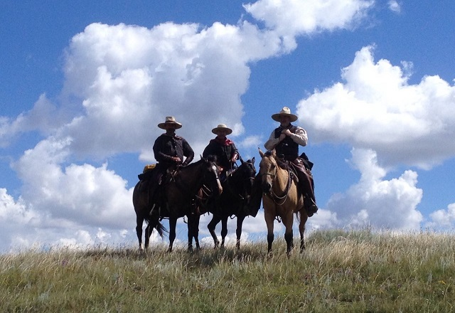 Ausritt Pferde Ranch Kanada