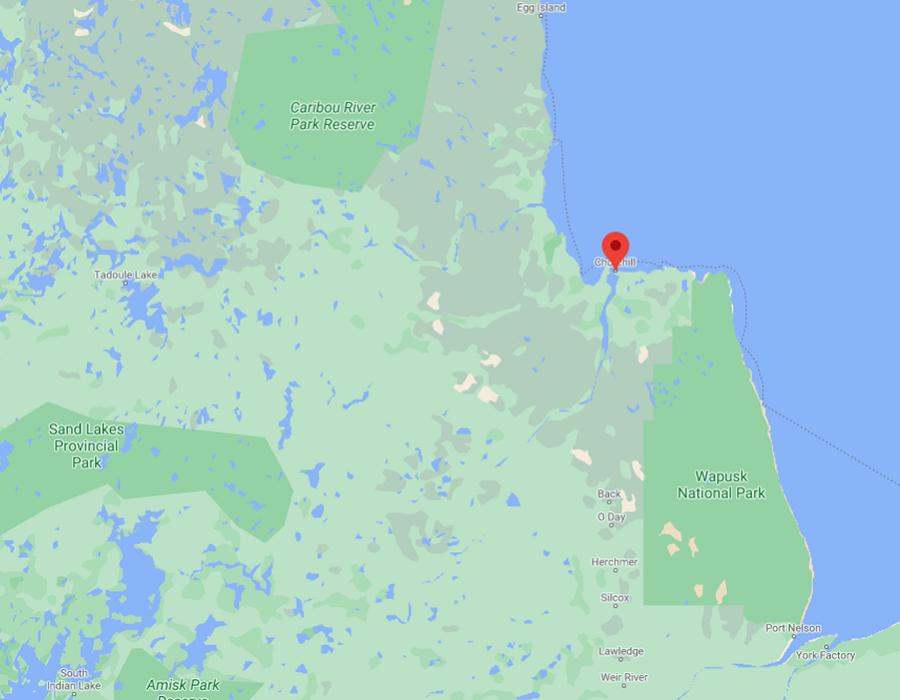 Karte Churchill Kanada Manitoba