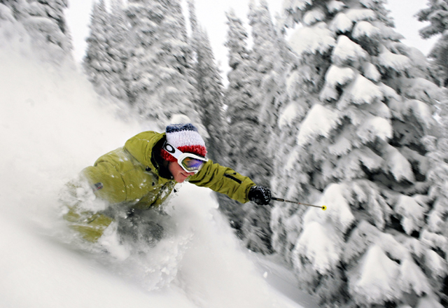 Champagne Powder in Kanada