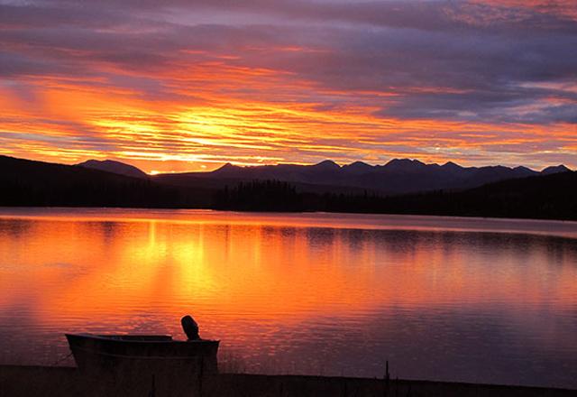 Kanadischer See in Yukon