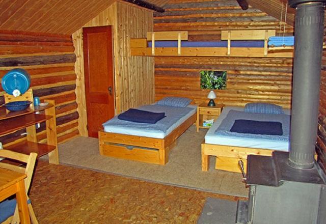 Frances Lake Wilderness Cabins Kanada Innenansicht