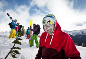 Skifahren in den kanadischen Rockies
