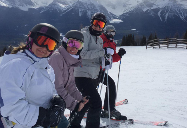 Skifahren in Lake Louise und Sunshine Village