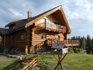 Blockhütte in British Columbia am Big Creek