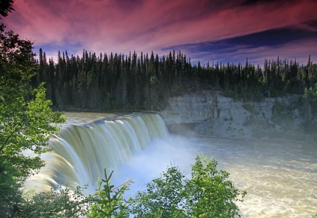 Wasserfall Himmel Blau Kontrast